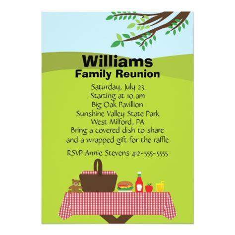invitation card design for reunion customizable family reunion 5x7 paper invitation card zazzle