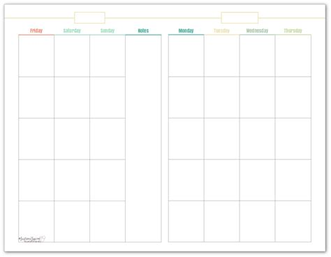 printable undated weekly calendar introducing my new blog planner printables scattered