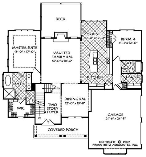 floor plans york creek shoal creek a house floor plan frank betz associates