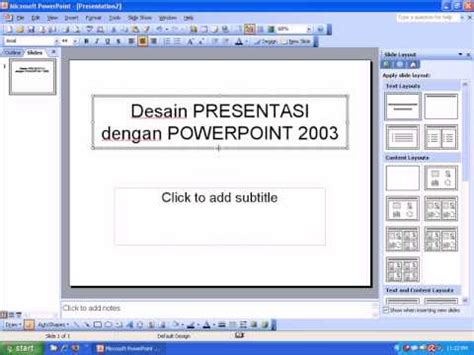 membuat presentasi powerpoint menjadi video tutorial powerpoint cara membuat presentasi youtube