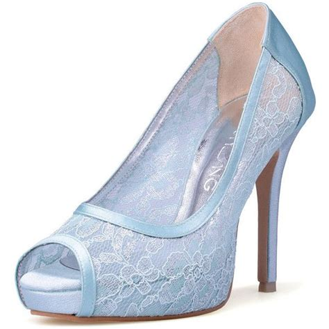 wedding heels something blue wedding heels blue lace bridal peep toe