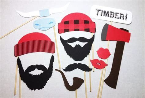free printable lumberjack photo booth props lumberjacks photo booth props and photo booths on pinterest