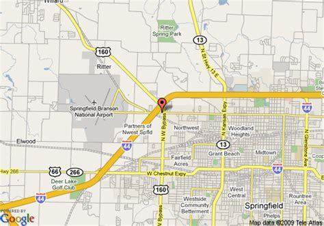 missouri map airports map of courtyard by marriott springfield airport springfield