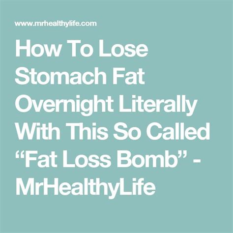 How To Detox From Overnight by How To Lose Stomach Overnight Literally With This So
