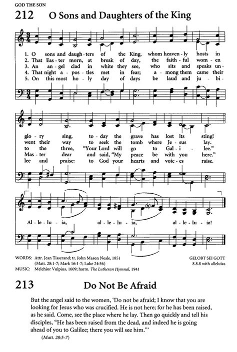 Celebrating Grace Hymnal 212. O sons and daughters of the