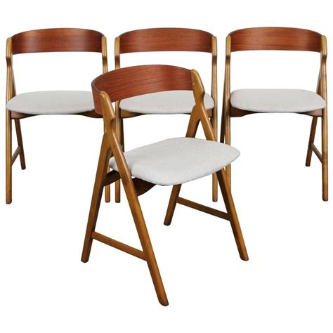 modern teak furniture set of four mid century modern teak dining chairs