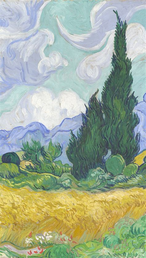 van gogh wallpaper for mac wheat field with cypresses by vincent van gogh download