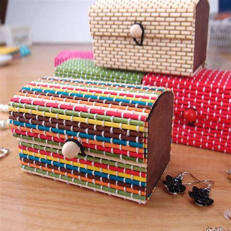 wooden bead box new bamboo storage box home organizer jewelry boxes
