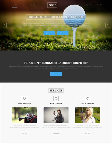 Golf Website Template Golf Sports Dreamtemplate Golf Website Template Free