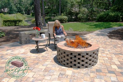 Popular Paver Fire Pit Plans Garden Landscape How To Build A Firepit With Pavers