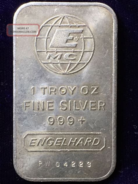 1 Oz Troy Silver Bar Value - silver value engelhard 999 silver value