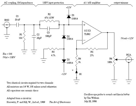 resistor capacitor buffer capacitor in parallel with resistor on xoscope lifier schematic electrical engineering