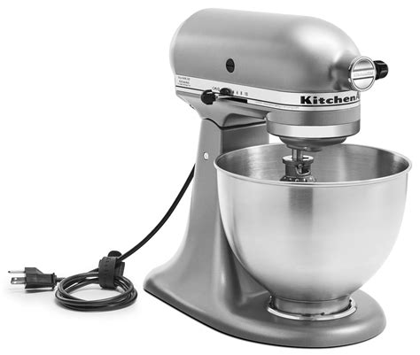 kitchenaid deluxe  quart tilt head stand mixer silver