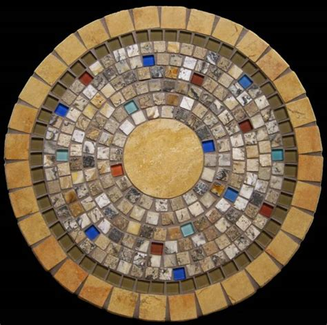 Mosaic Patio Table Top A Table Crafted From Mosaic Chips And Glass Pieces Mosaic Tables