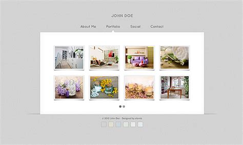 Free Gallery Vcard Html Templates Free Psd Vector Icons Html Gallery Template