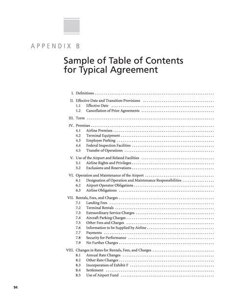 appendix template 12 appendices format exle time table chart