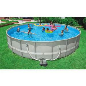 Backyard Pools Walmart Intex 22 X 52 Quot Ultra Frame Swimming Pool Walmart