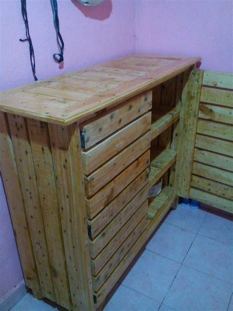 Reclaimed Wood Hutch And Buffet Pallet Kitchen Cabinet Sideboard