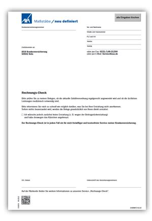 Schweiz Brief Schicken Wegweiser Leistungsabrechnung Axa