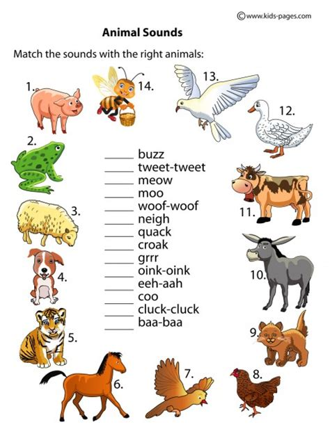 animal sounds farm animals worksheets for car interior design