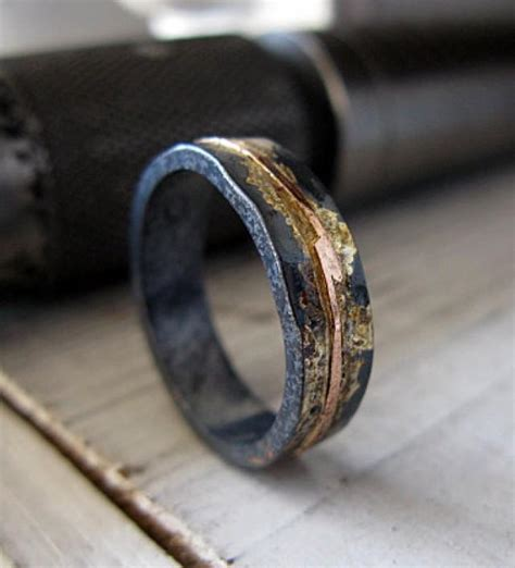mens wedding band rustic wedding band mens wedding ring