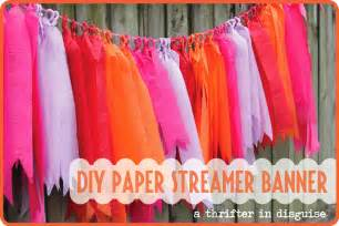 a thrifter in disguise diy crepe paper banner