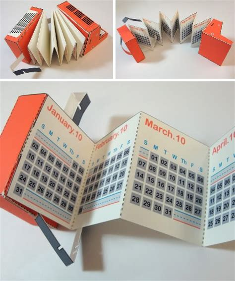 Papercraft Calendar - time for a change 12 cool creative calendar designs