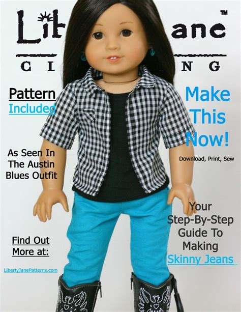 jeans pattern for american girl doll liberty jane skinny jeans pattern for american girl doll