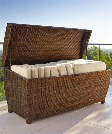 patio furniture storage our all weather wicker storage chest is both durable and