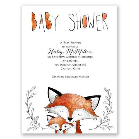 Fox Baby Shower Invitation Template Fox Fun Petite Baby Shower Invitation Invitations By Dawn