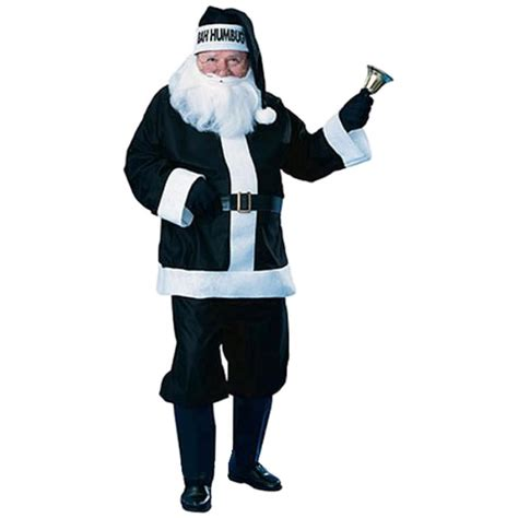bah humbug santa set black claus suit costume