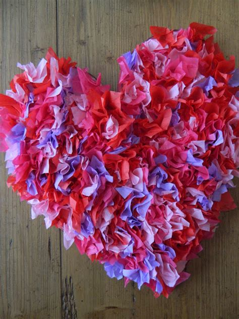 How To Make Tissue Paper Hearts - great big tissue paper lesson plans