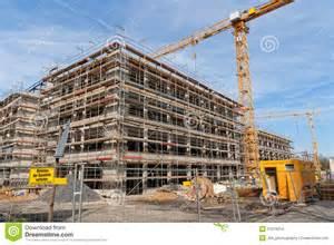 Concrete Block House Plans construction site stock images image 21079214