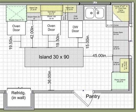 kitchen layout dimensions with island kitchen layouts with island 10k kitchen remodel island