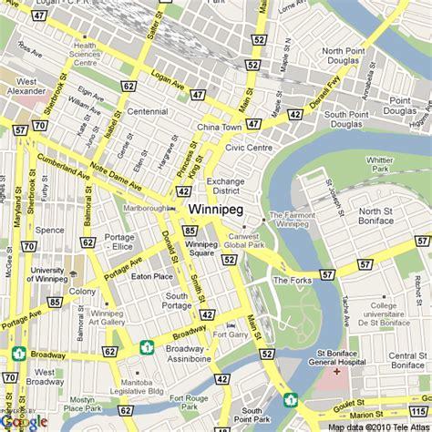 winnipeg canada map map of winnipeg canada hotels accommodation