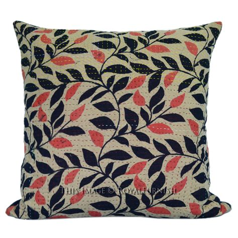 Throw Pillow Fabric by 16x16 Quot Vintage Fabric Kantha Square Throw Pillow