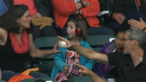 pirates fan tosses foul ball to young girl youtube pirates fan gives foul ball to little girl makes her