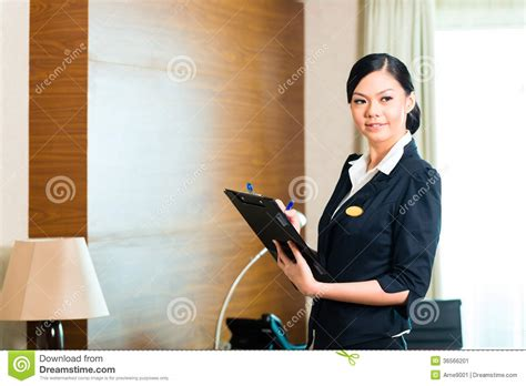 Executive Housekeeper by Asian Executive Housekeeper Controlling Hotel Room Stock Image Image Of Profession Employment