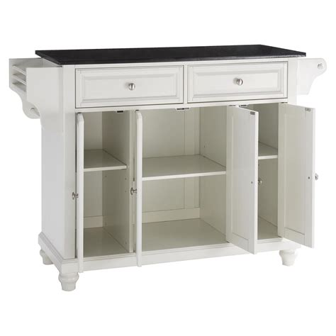 white kitchen island with granite top cambridge solid black granite top kitchen island white