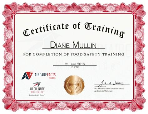 servsafe certificate template diane mullin air culinaire worldwide food safety