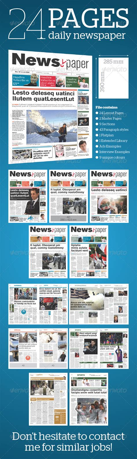 newspaper layout in adobe indesign newspaper layout template indesign