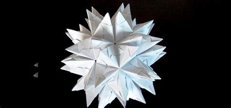 Origami Spike - how to origami a spiked truncated icosahedron 171 origami