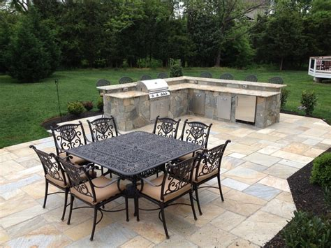 outdoor kitchen cabinets traditional patio outdoor patio flagstone patio w outdoor kitchen traditional patio