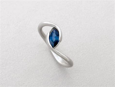 marquise engagement ring blue sapphire engagement ring
