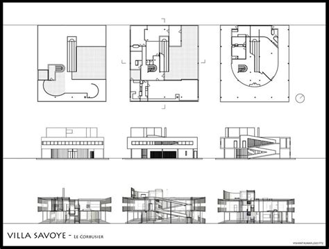 villa savoye floor plans savoye family s 246 k p 229 google le corbusier pinterest