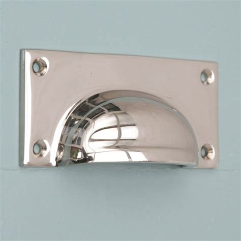 Drawer Pulls For by Polished Nickel Hooded Drawer Pull