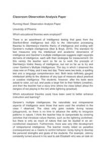 Writing An Observation Paper Classroom Observation Report Essay College Paper Service