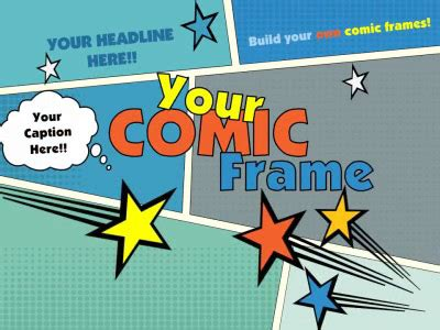 Your Comic Frame A Powerpoint Template From Presentermedia Com Comic Book Template Powerpoint