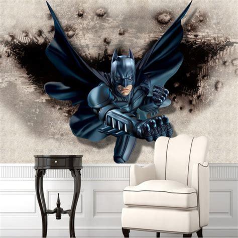 batman wall mural aliexpress buy 3d batman wall mural custom large