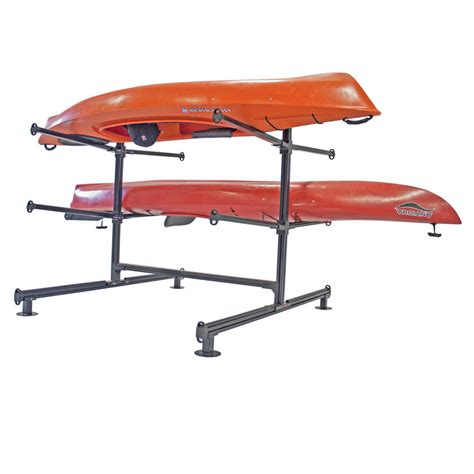 Canoe Rack Storage by Aluminum Storage Racks For Kayaks Canoes Sup Boards